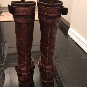Anthropologie crinkle boots by Schuler & Sons